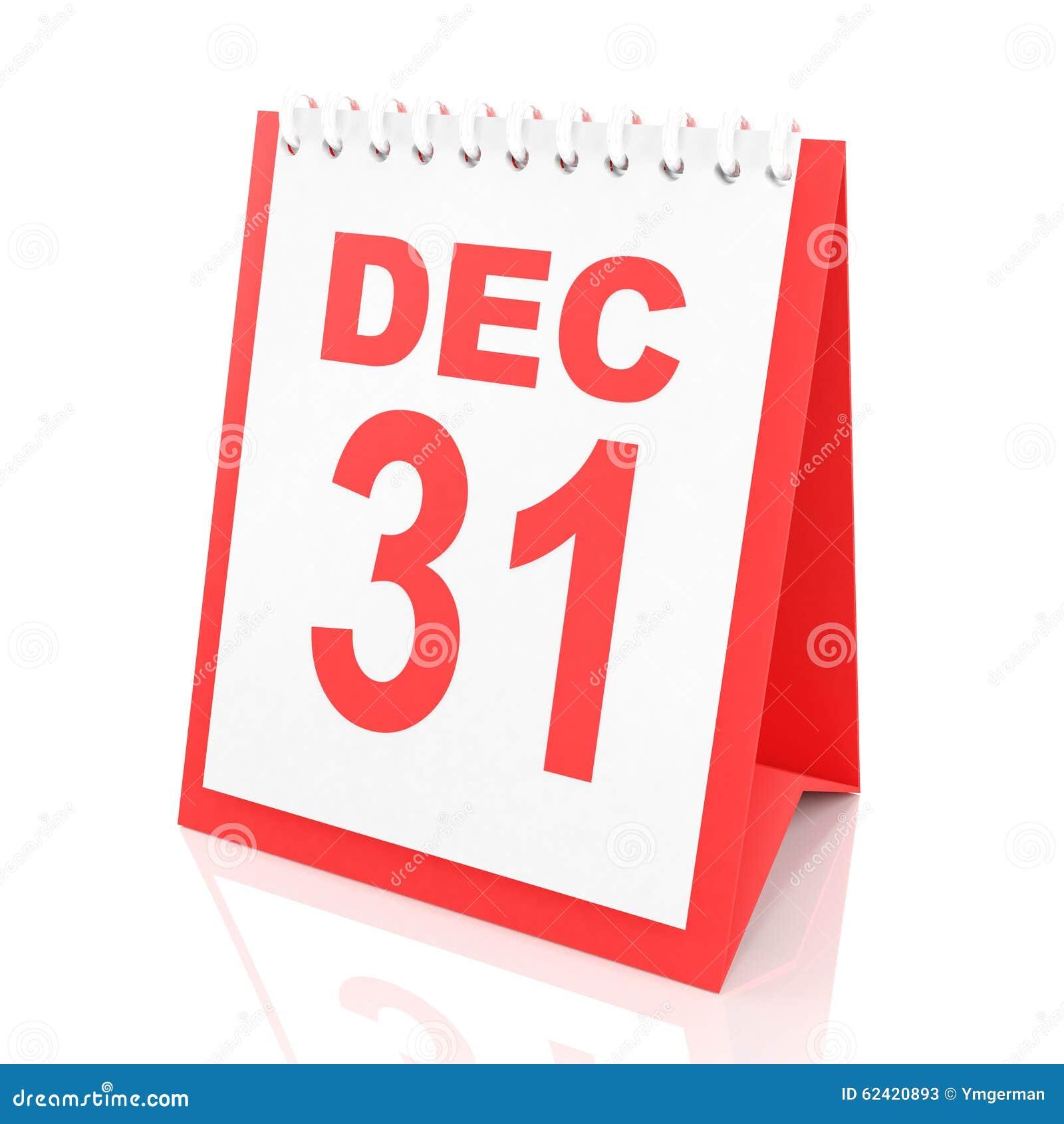 New Year\'s Eve Calendar, 3d Render Stock Illustration - Illustration ...