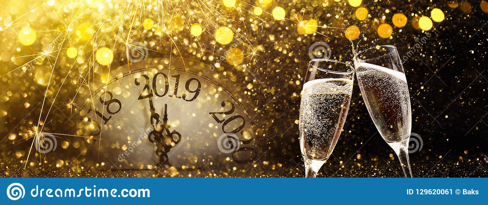 New Year`s Eve 2019 Celebration Background