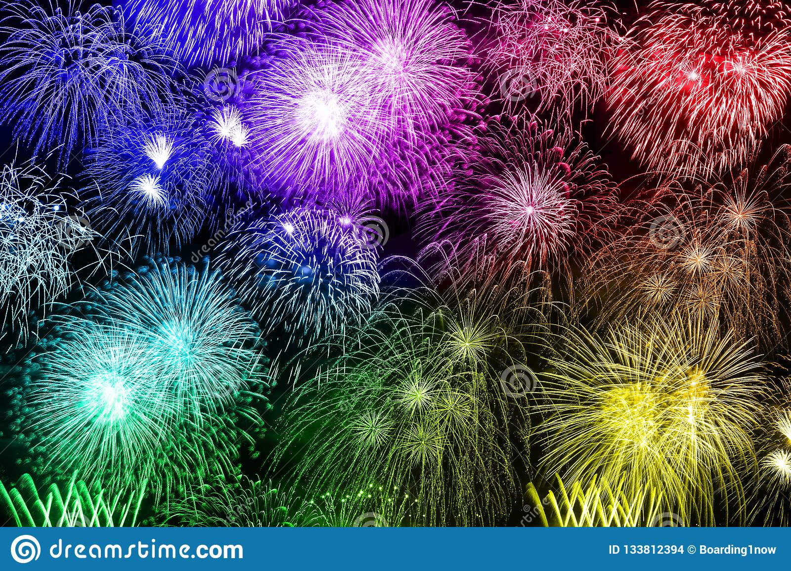 New Year`s Eve Fireworks Colorful Background Years Year Firework Stock Illustration ...