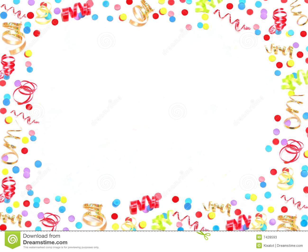 New Years Eve Frame Stock Image Image Of Ribbons Party 7428593