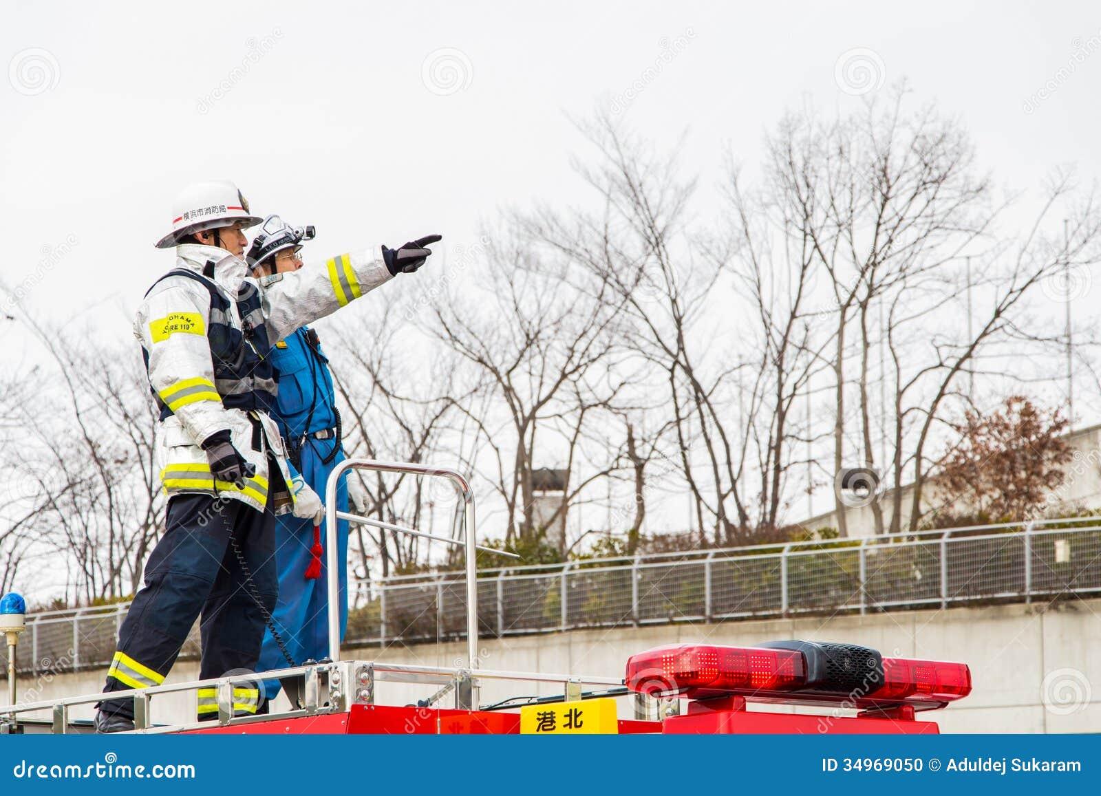Year's Fire Review Kanagawa, Japan Editorial Image - Image ...