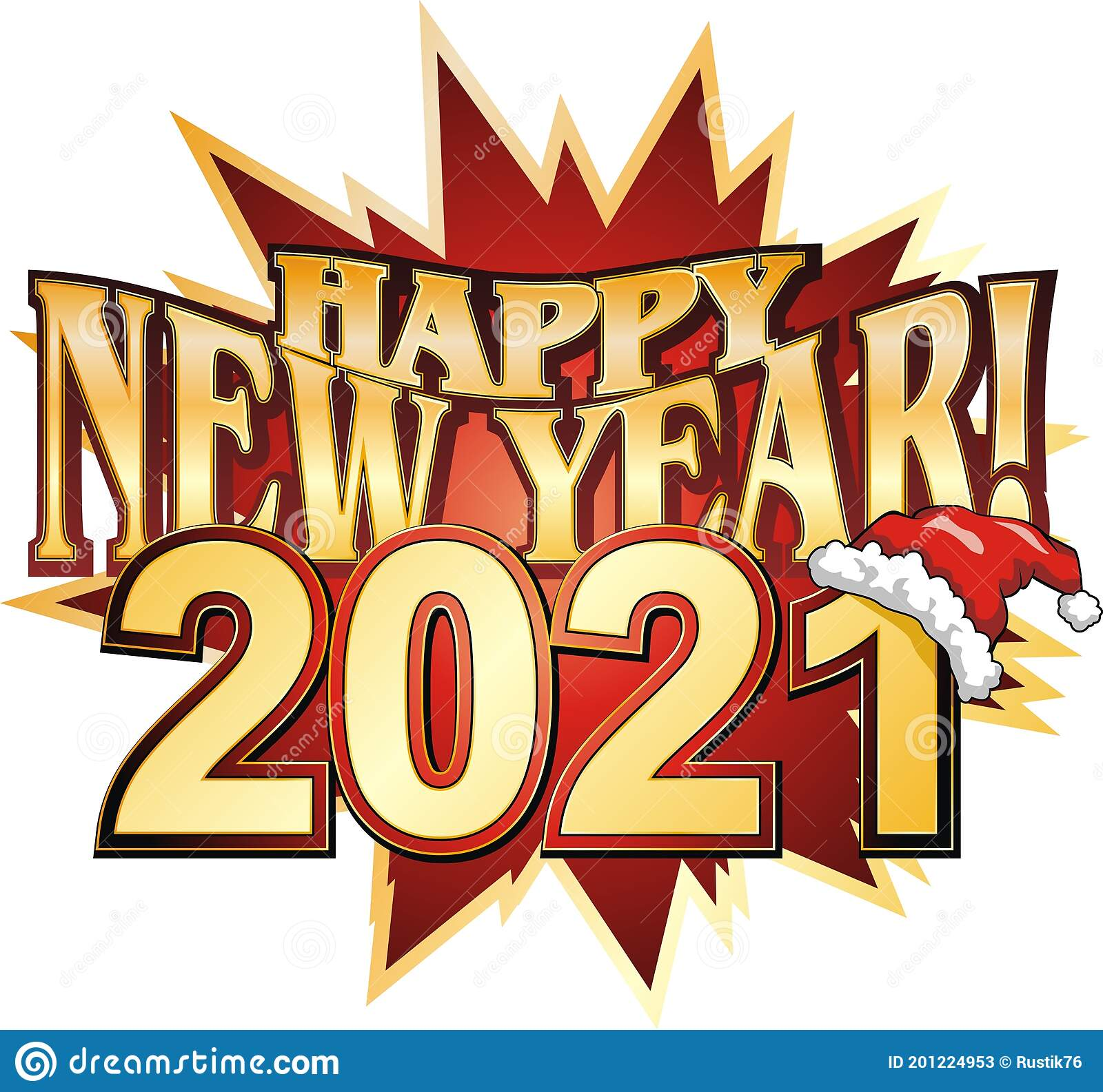 Happy New Year 2021 Available In Png Format Stock Image Illustration Of Gold Format 201224953