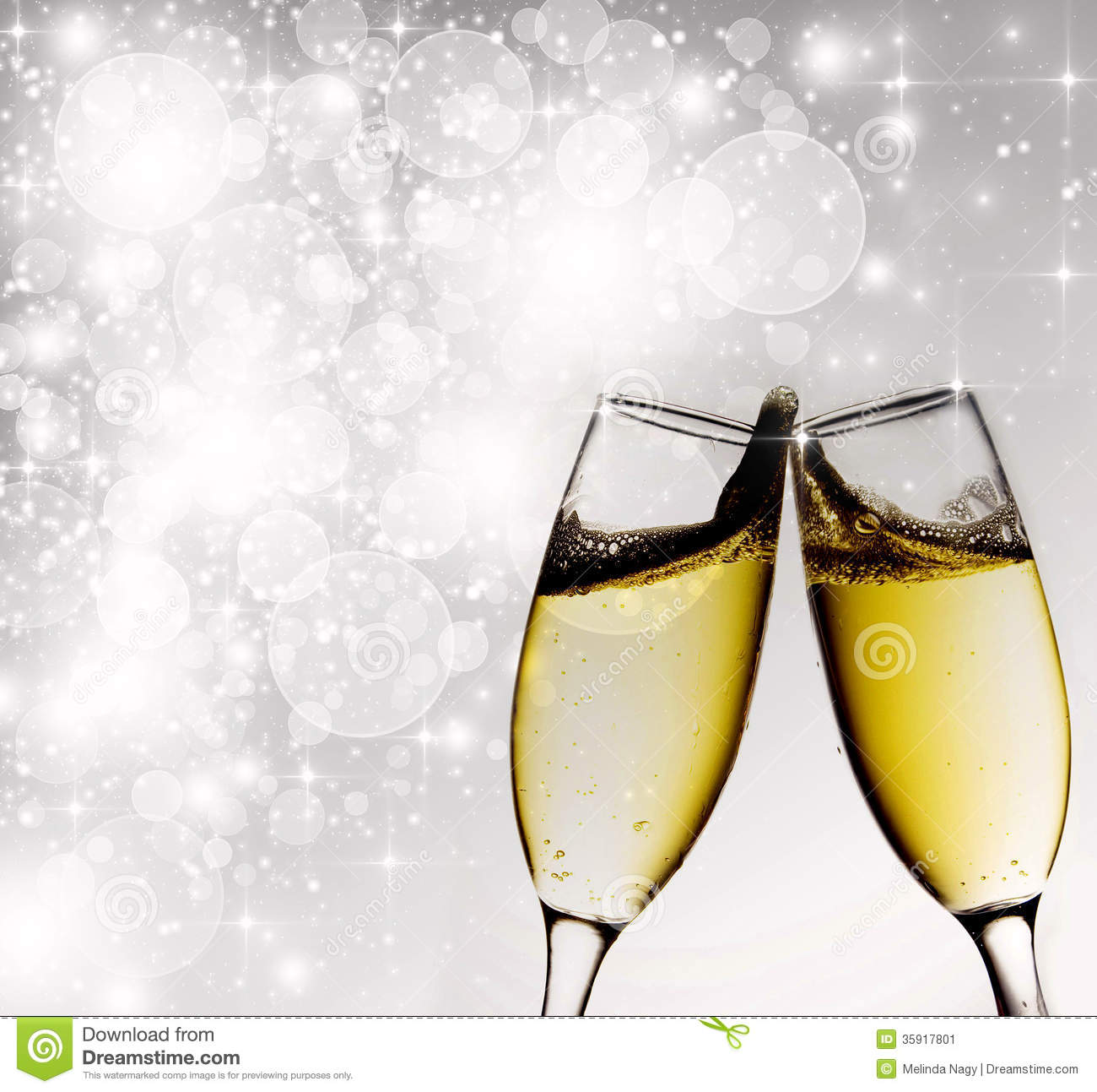 New Years At Midnight Stock Image Image 35917801