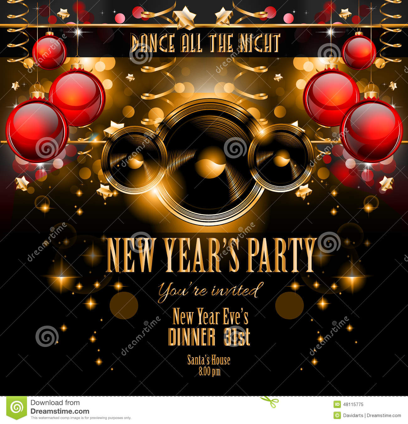 New Year's Party Flyer Design For Nigh Clubs Event Stock ...
