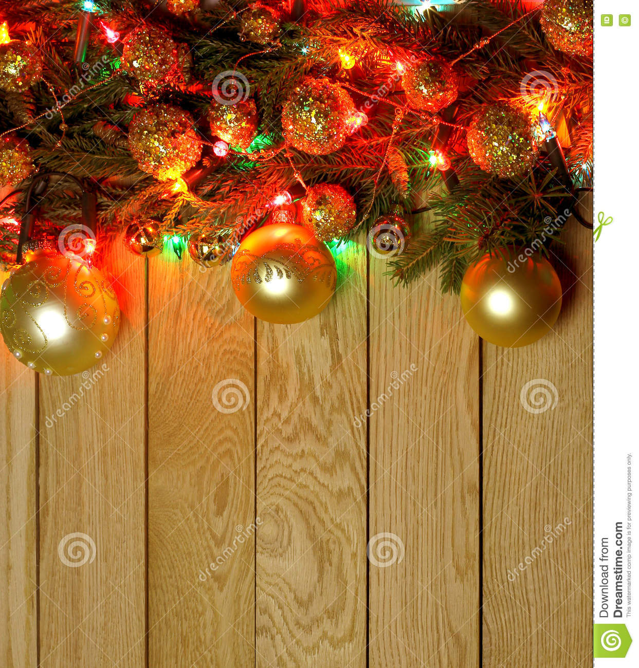 new years top border frame christmas wooden background