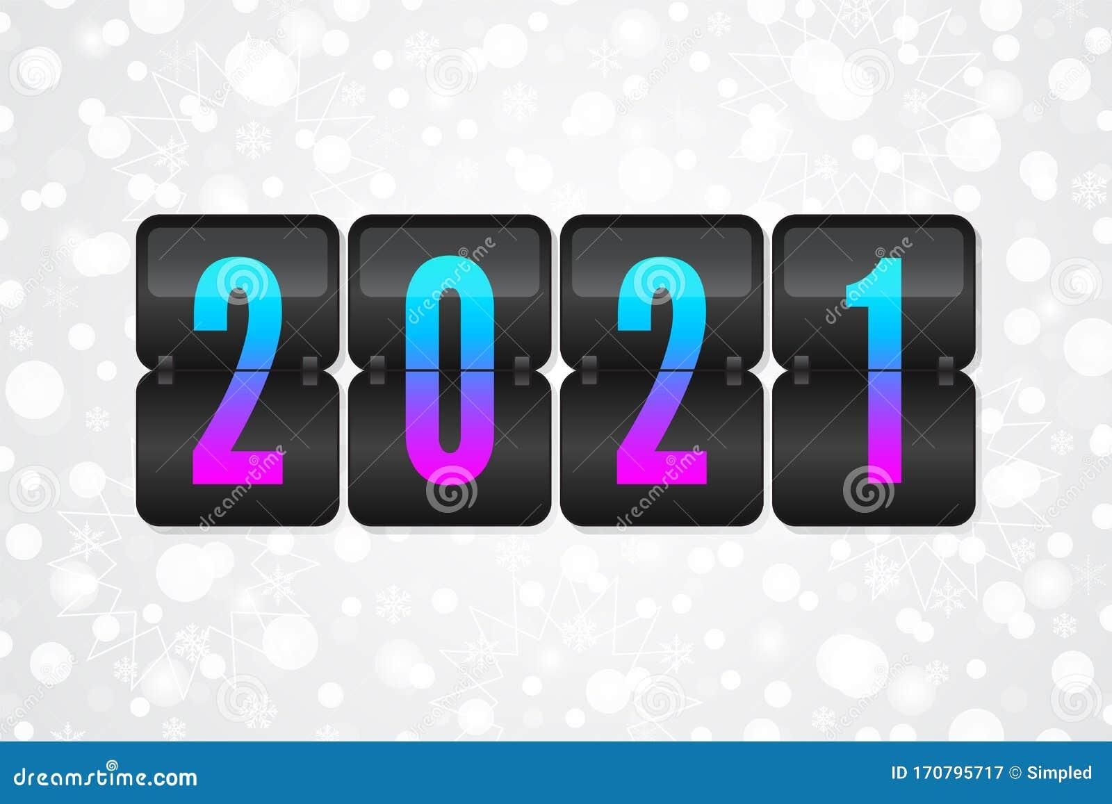 2021 New Year Scoreboard Sign On Christmas Snowflake ...