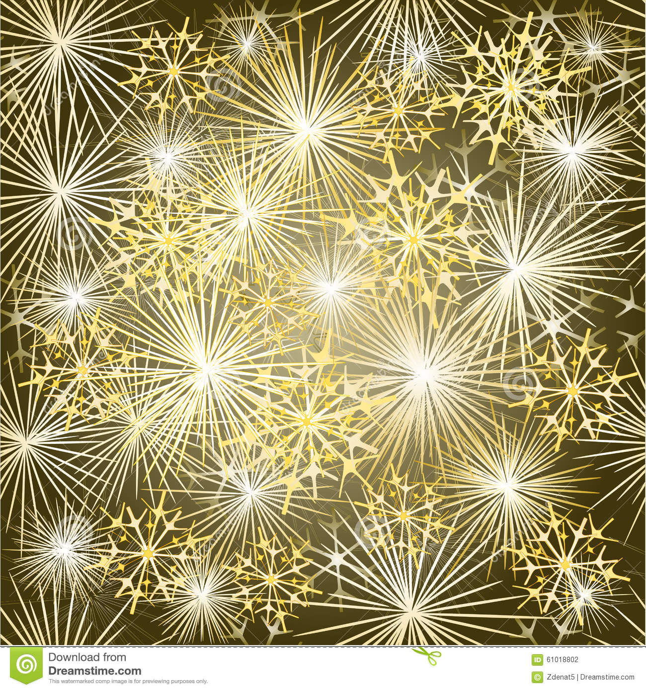 New Year seamless texture fireworks new year gold background vector ...
