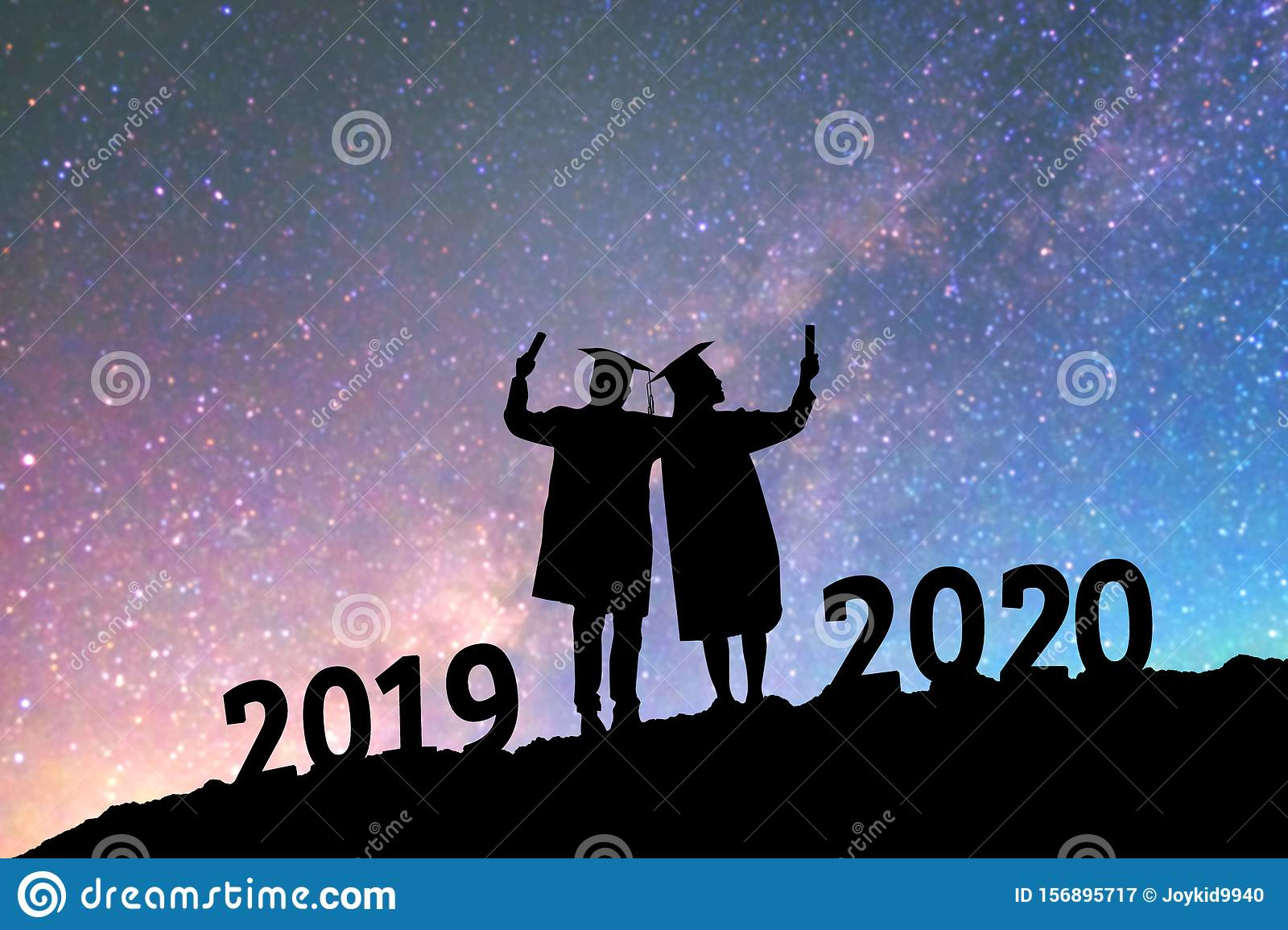 Graduation Background 2020.2020 New Year Silhouette People Graduation In 2020 Years