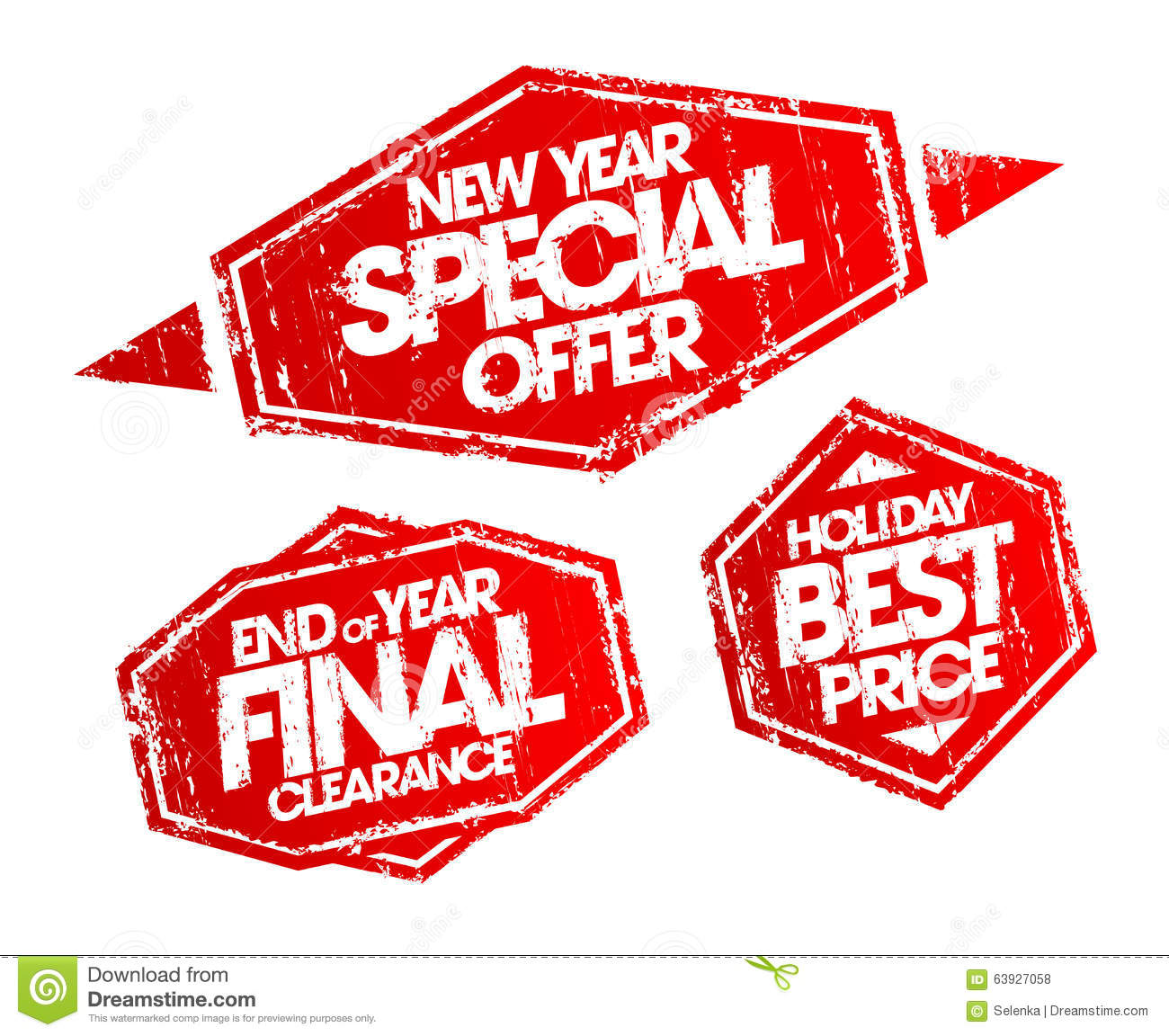 New Year Special Offer Stamp, End Of Year Final Clearance Stamp ...