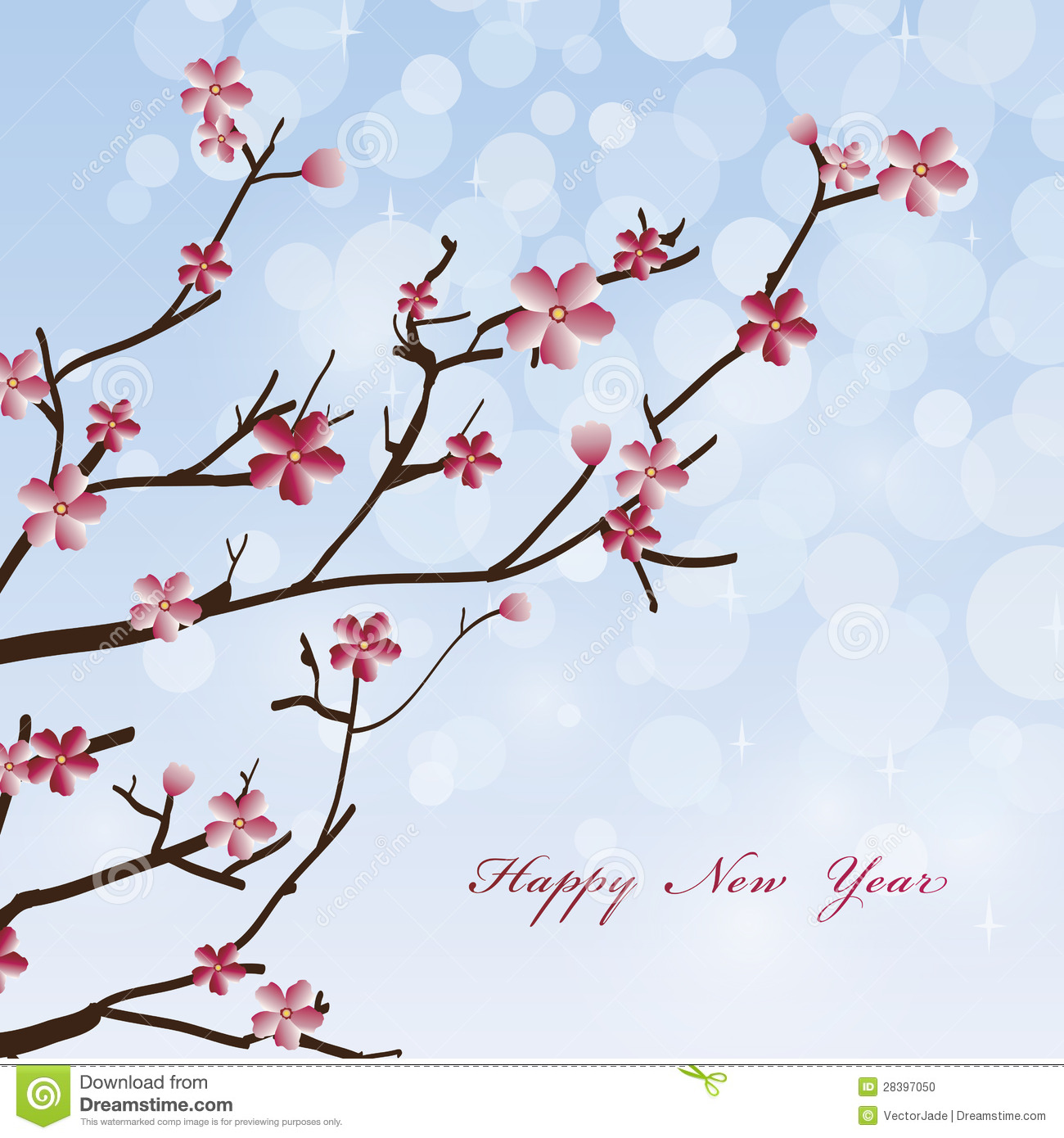 new year spring flowers background