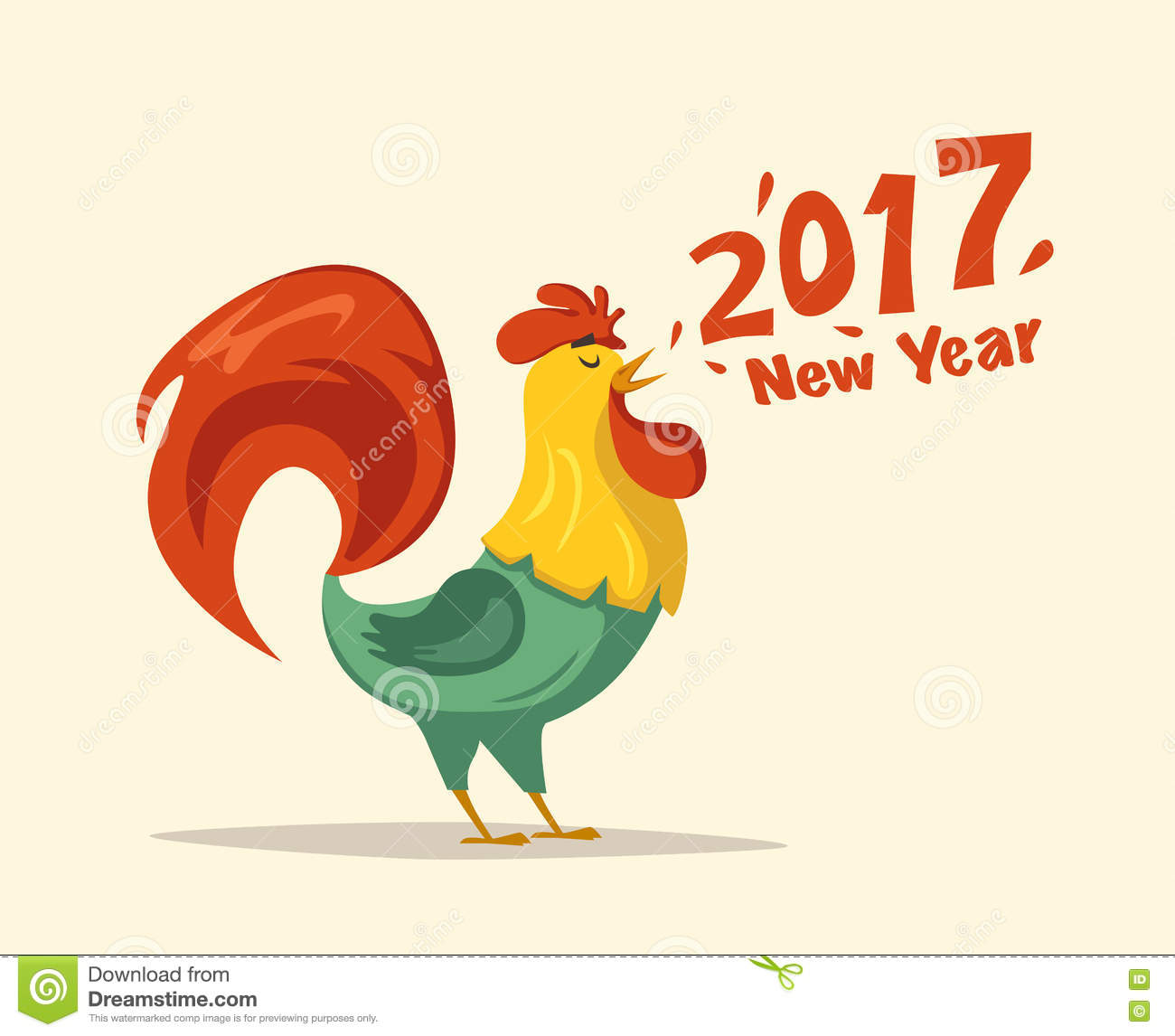 Chinese Calendar Illustration : Year of the rooster illustration cartoon vector