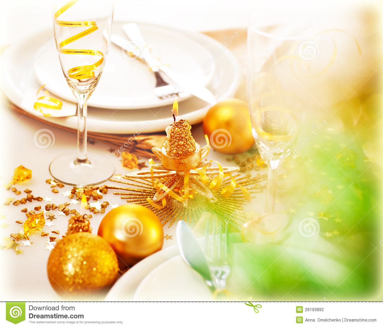New year table decorations stock photo image of champagne - Decoration table reveillon jour de l an ...