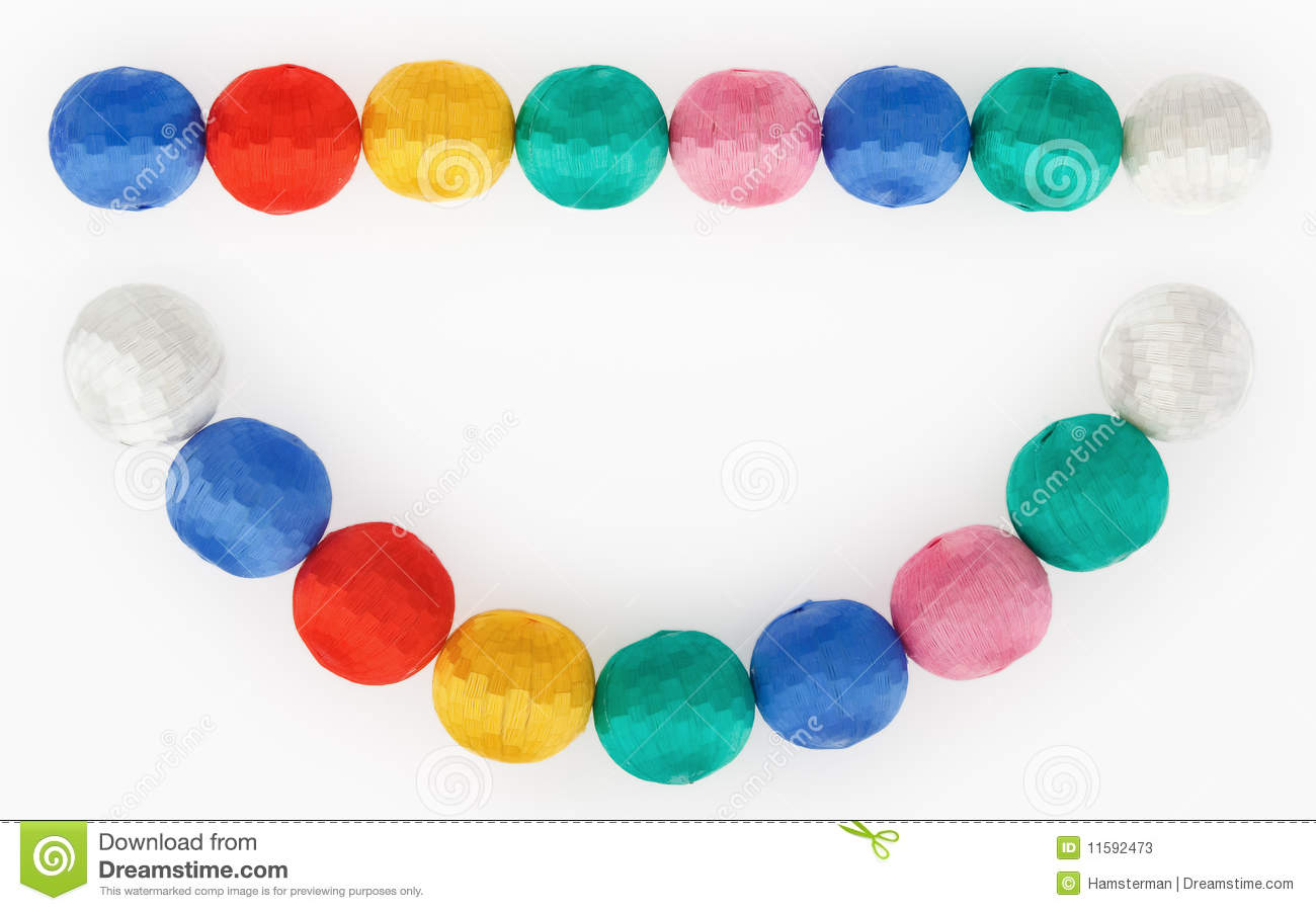 New-Year Tree Decorations Multicolored Balls Stock Image