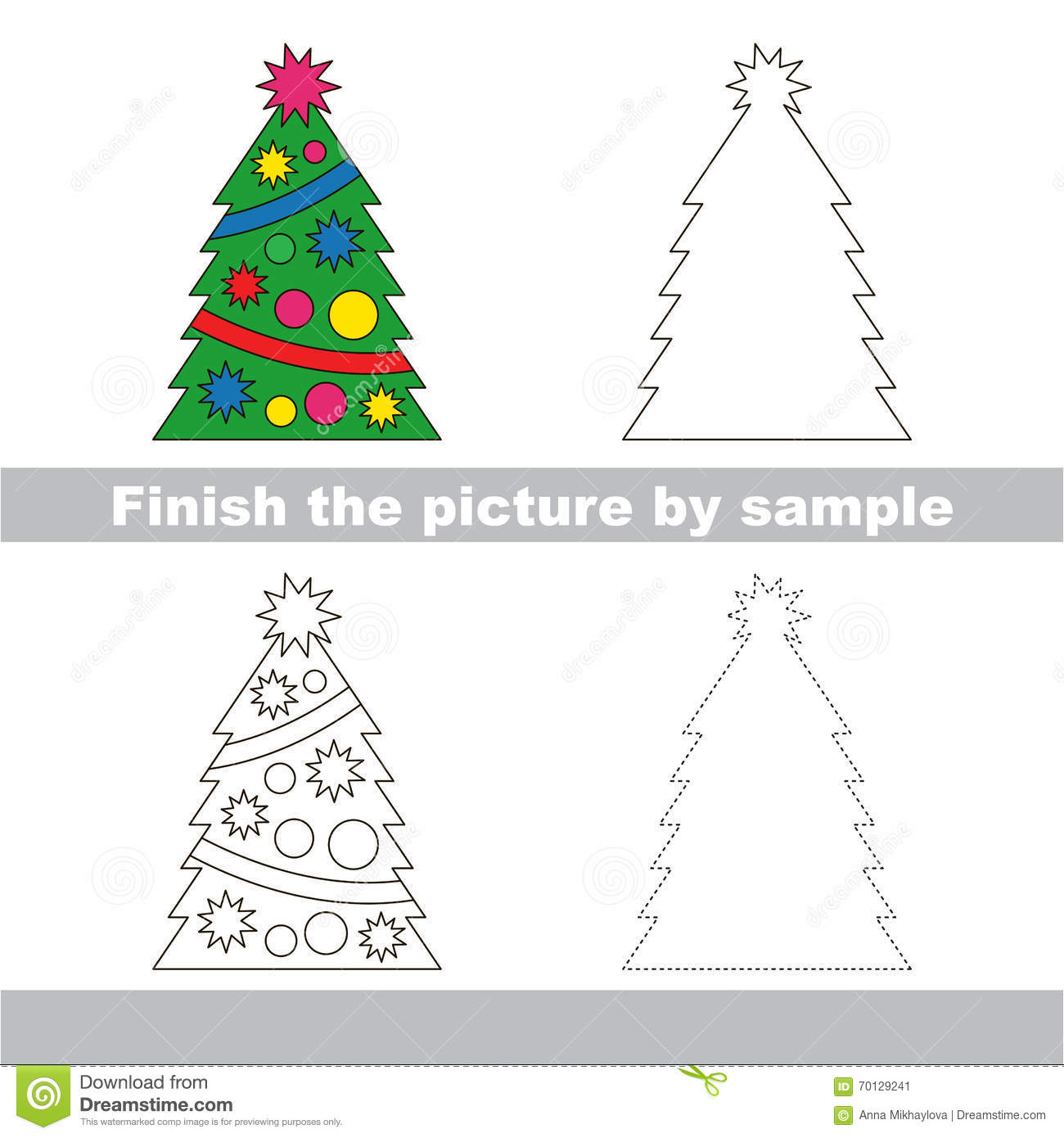New year tree drawing merry christmas and happy new year for Cute christmas tree drawing