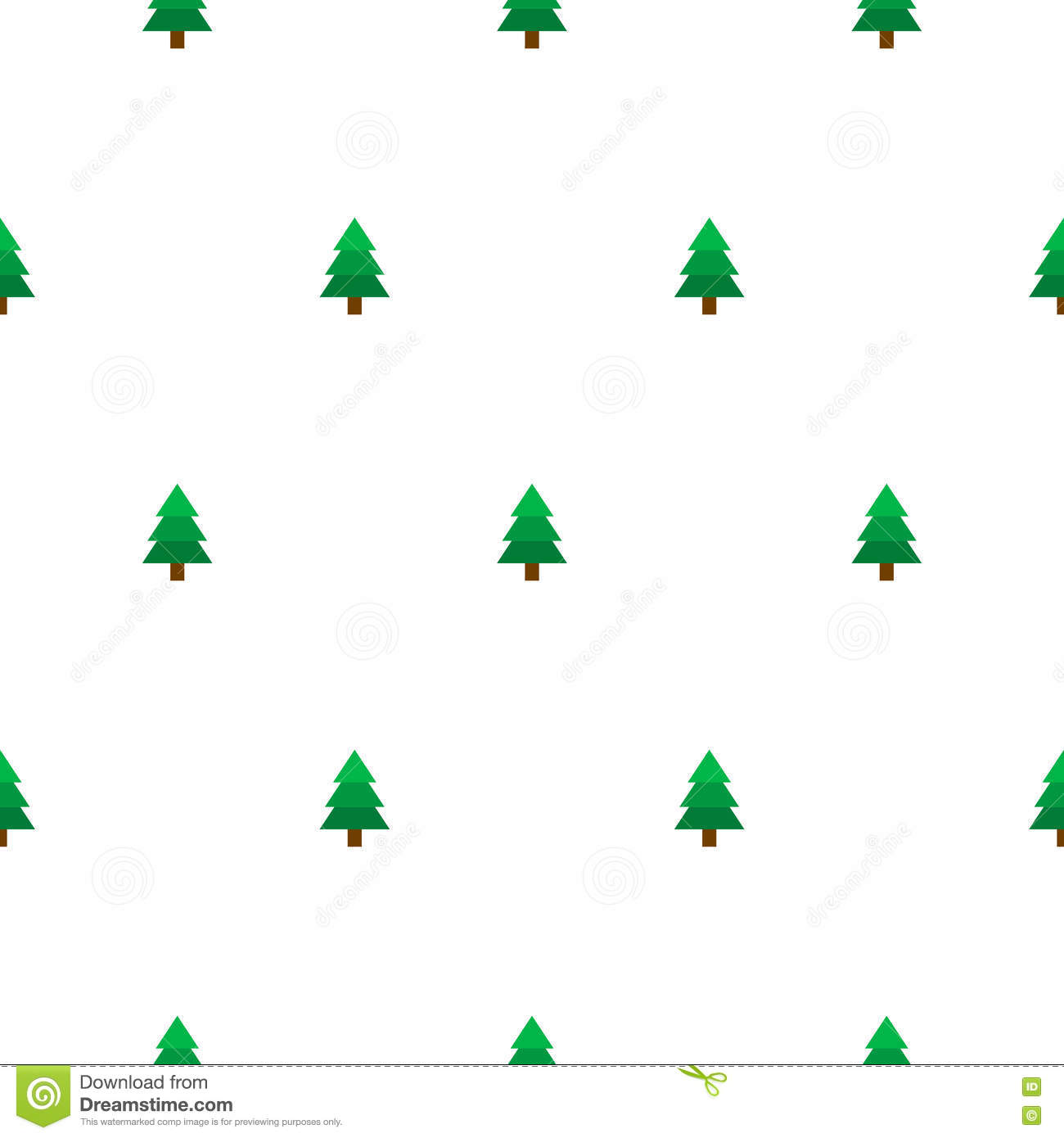 New Year Tree Simple Seamless Vector Pattern Stock Vector Illustration Of Decor Winter 79789571