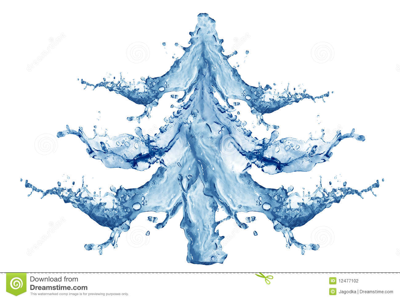 New Year Tree From Water Stock Photo. Image Of Night