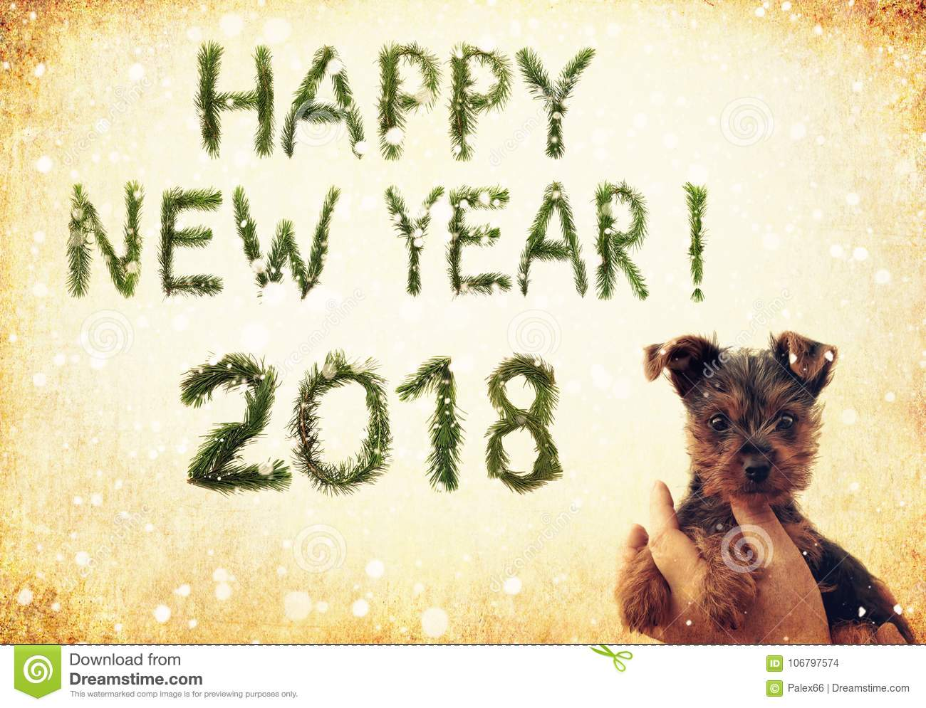 2018 New Year. Two Thousand Eighteen. Happy New Year Greetings ...