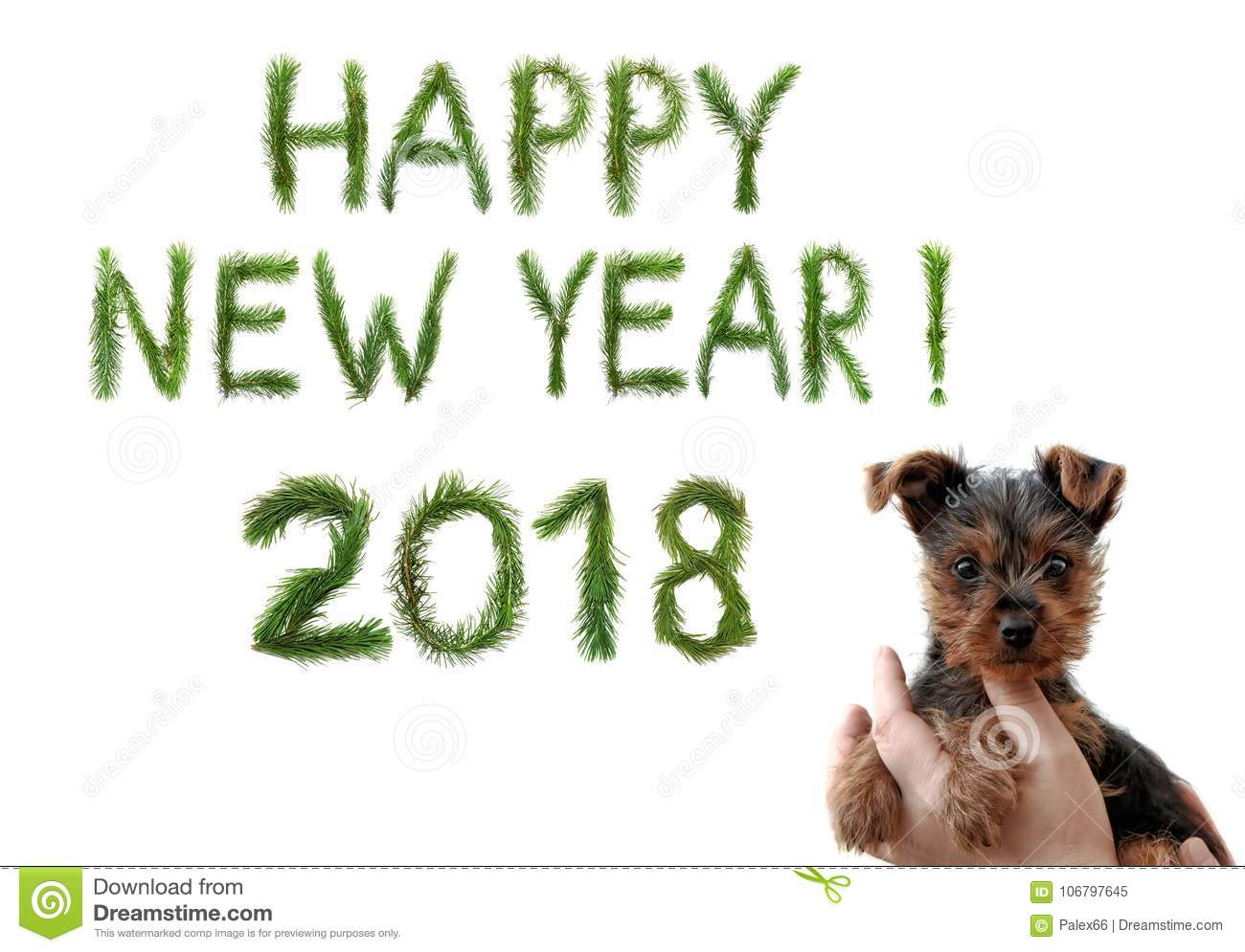 2018 New Year Two Thousand Eighteen Happy New Year Greetings Cute