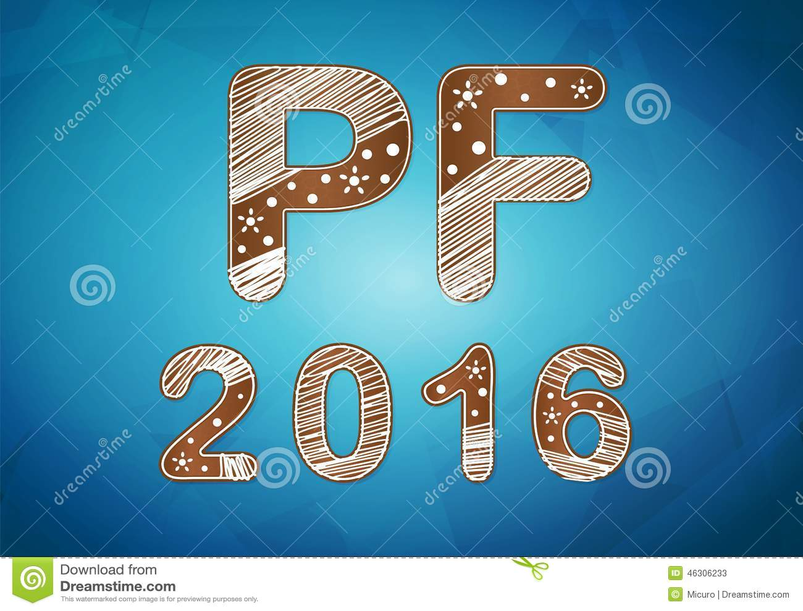 New year 2016 wish card vector illustration.