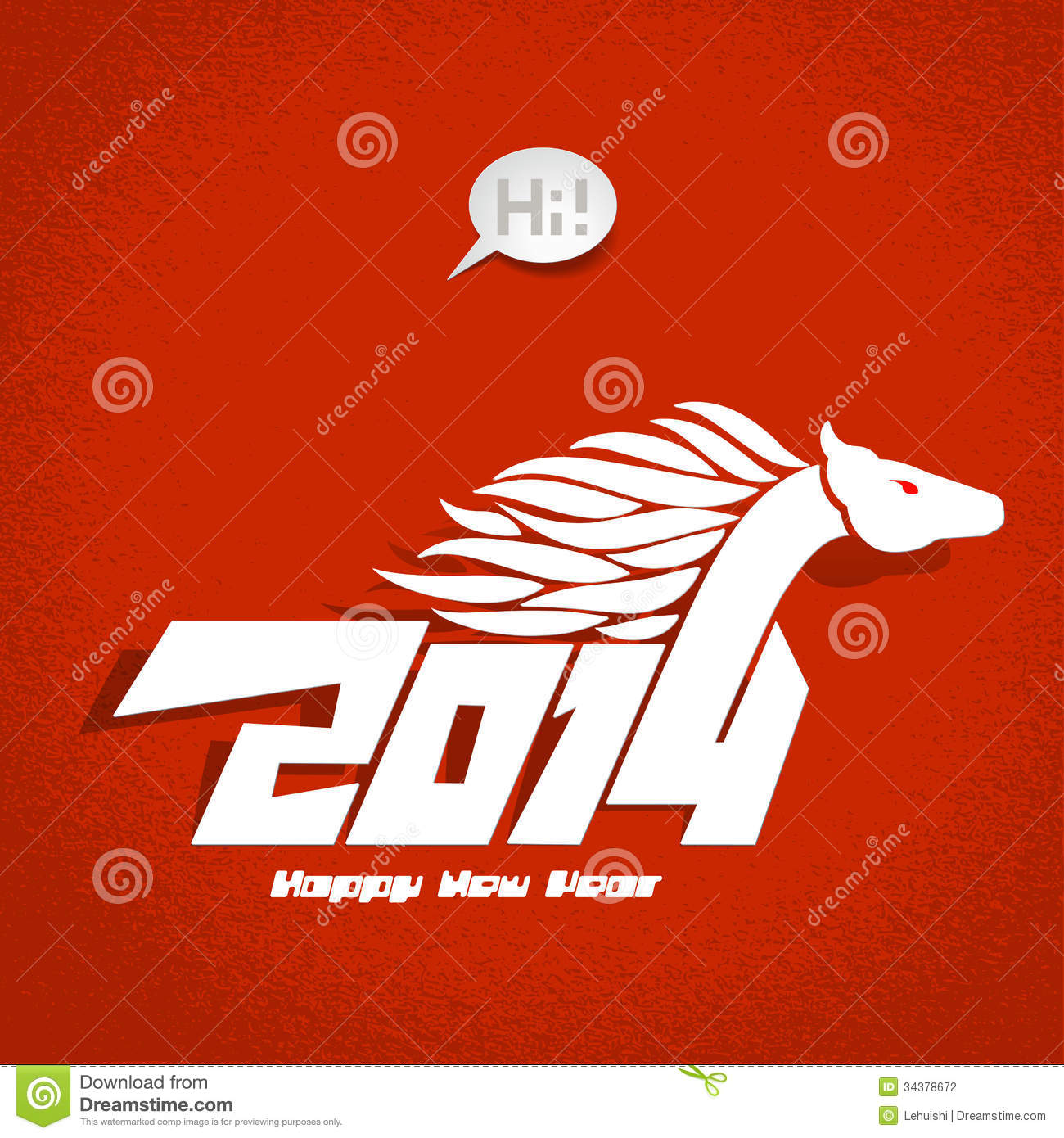 Clipart of 2014 Happy New Year  Stock Photography