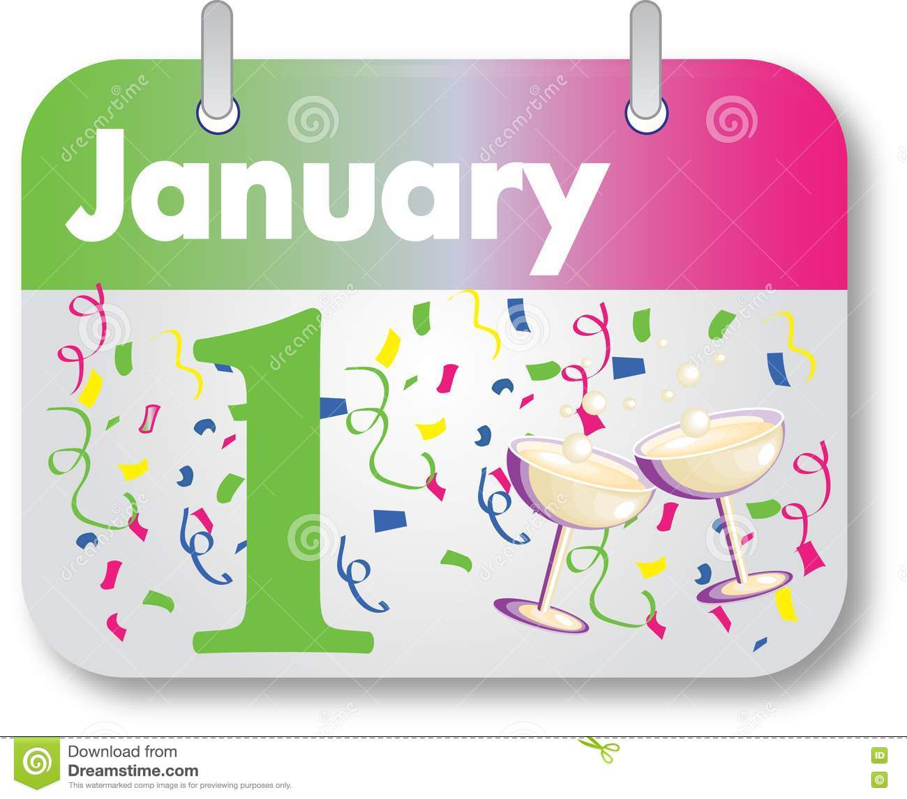 New Years Day Calendar Date Stock Image - Image: 17358341