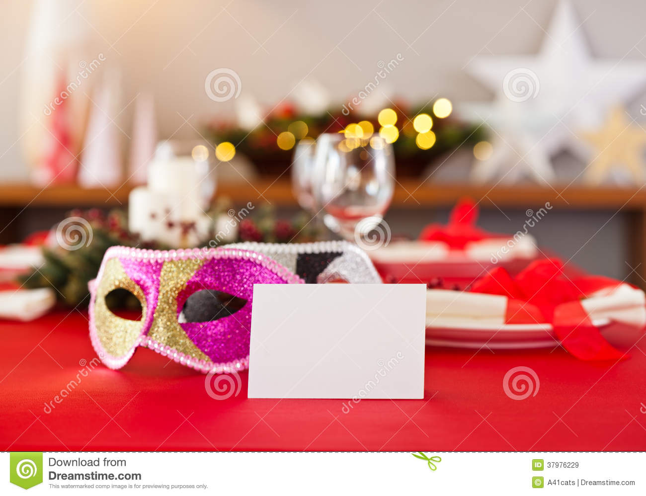New years dinner table setting royalty free stock images - New year dinner table setting ...