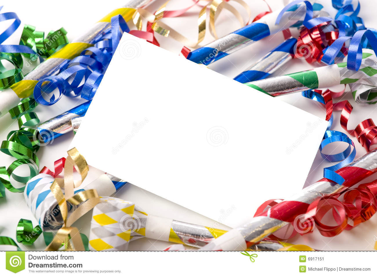 New Years Eve Or Birthday Party Invitation Stock Image Image