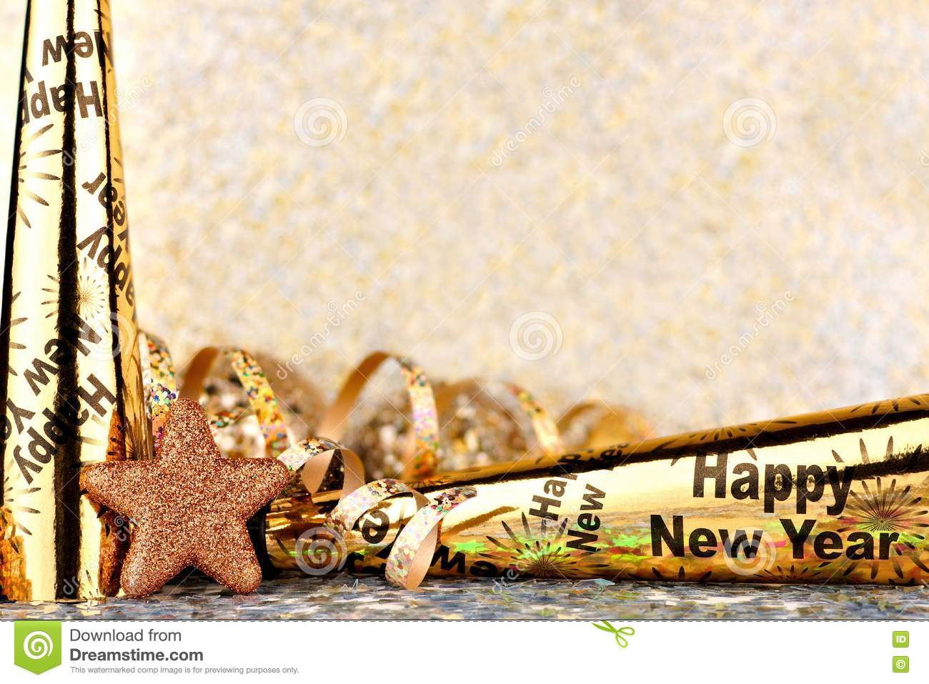 new years eve border with twinkling light background