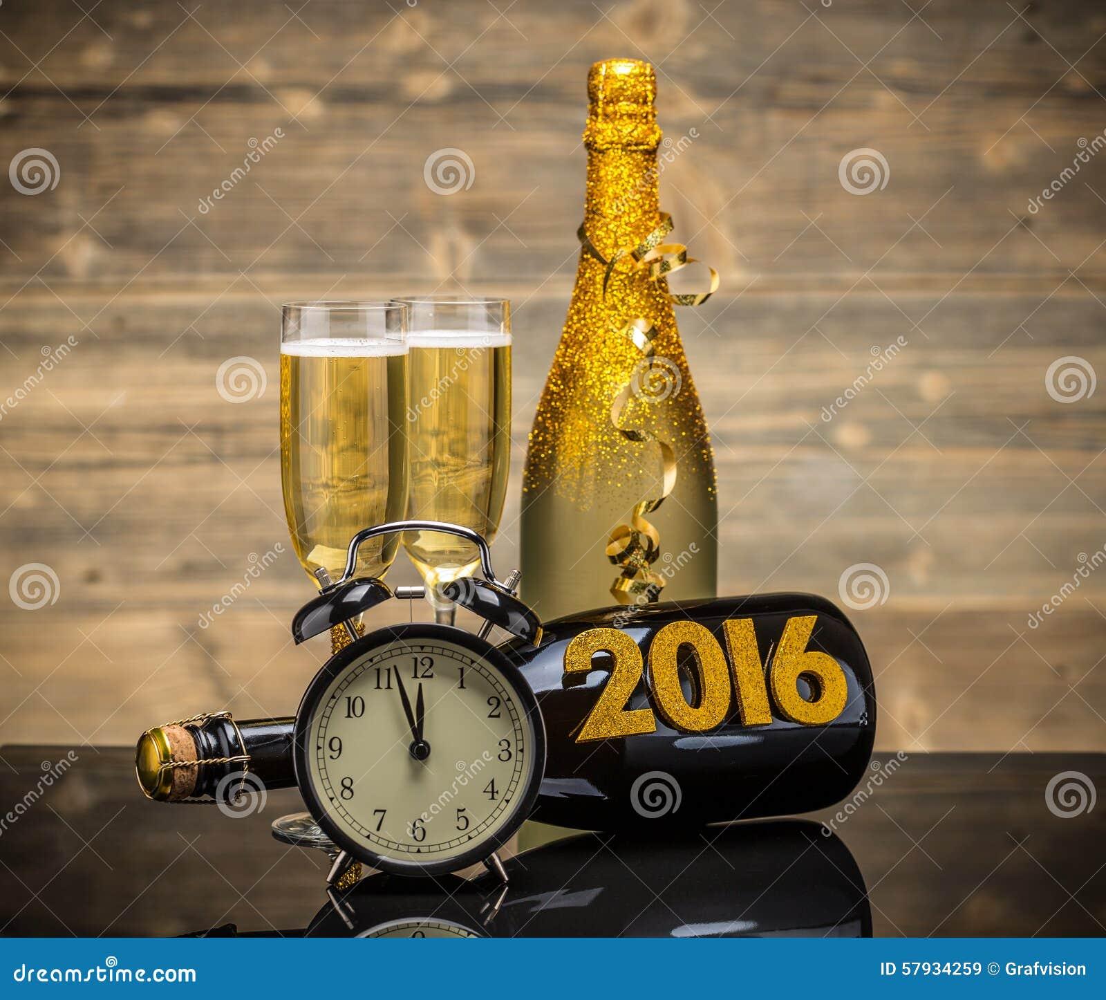 2016 New Years Eve celebration background.