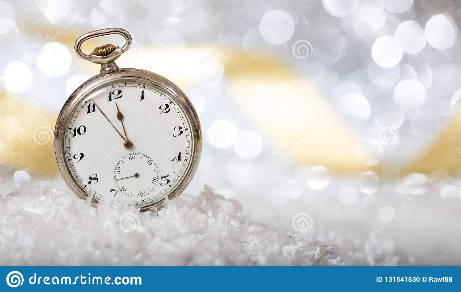 New Years Eve Countdown. Minutes To Midnight On An Old ...