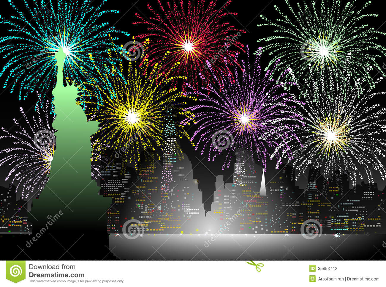 New years Eve in New York - Vector