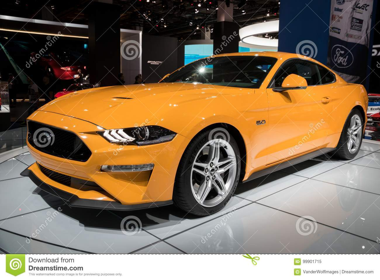 New Yellow Ford Mustang GT Sports Car Editorial Image Image - Mustangs unlimited car show 2018