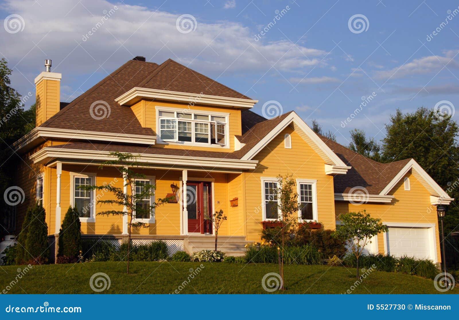 New Yellow House Stock Photo Image 5527730