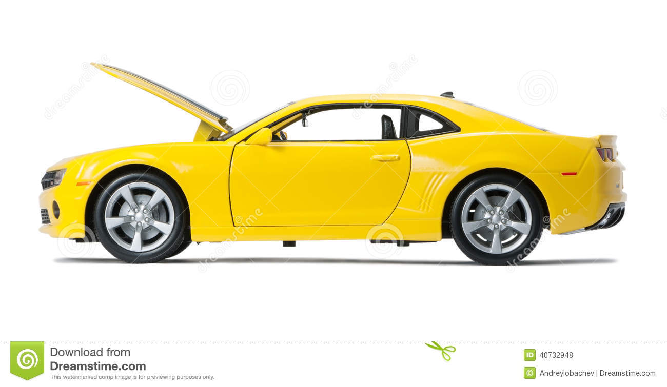 Expensive Car For Sale Or Gift Royalty Free Stock Image: New Yellow Model Sports Car Stock Photo
