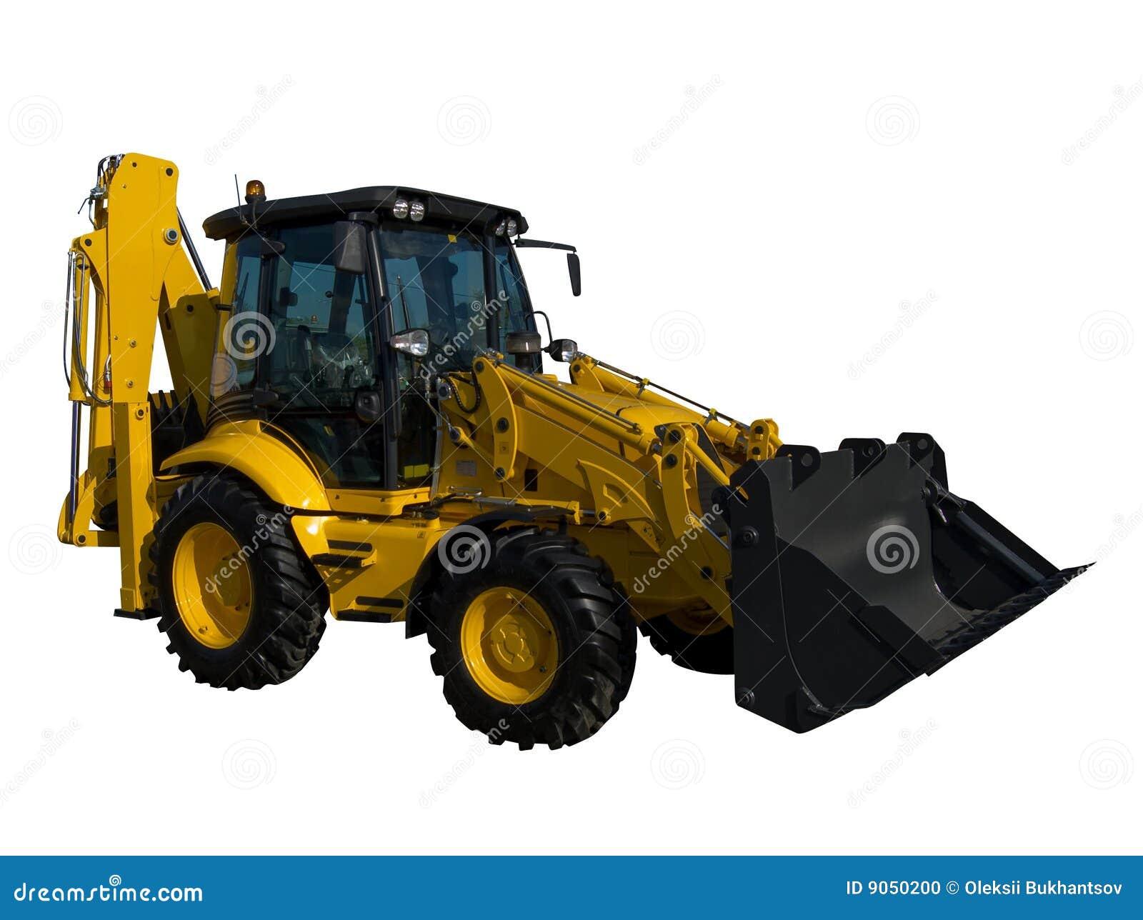 New Yellow Tractor Stock Photo Image 9050200