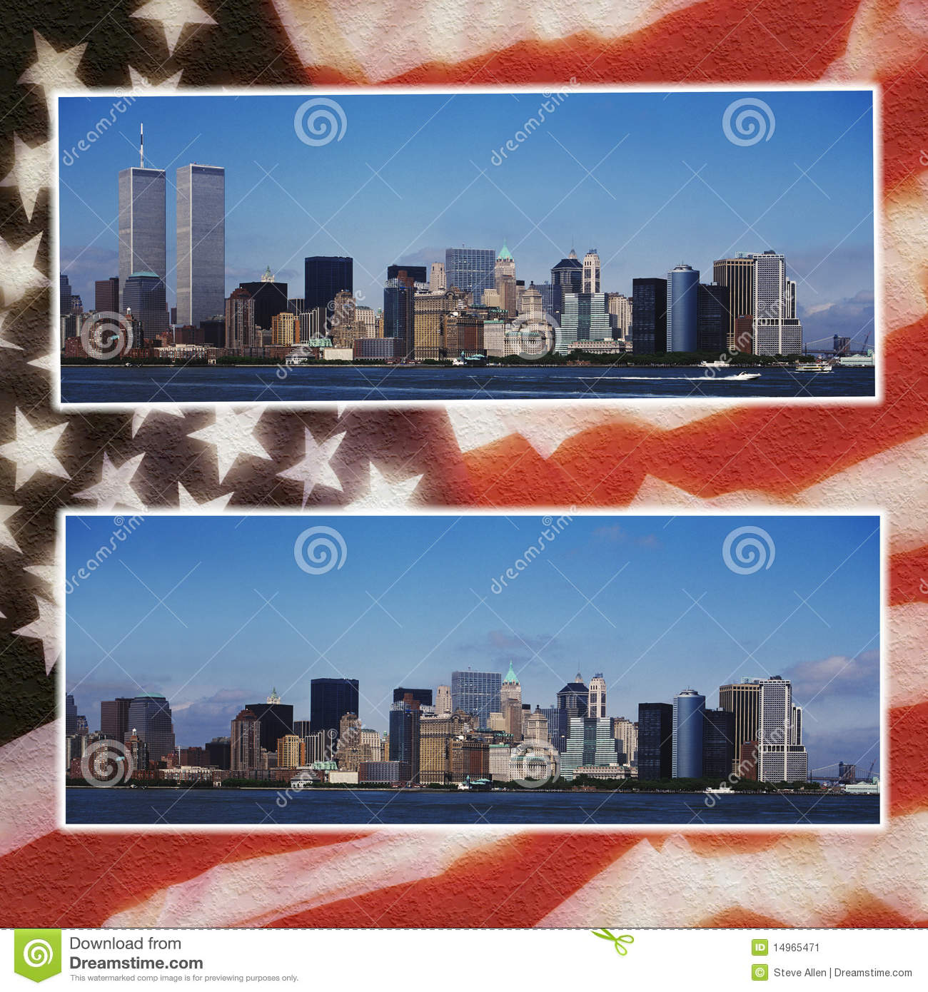 World Trade Center pictures before during and after 911