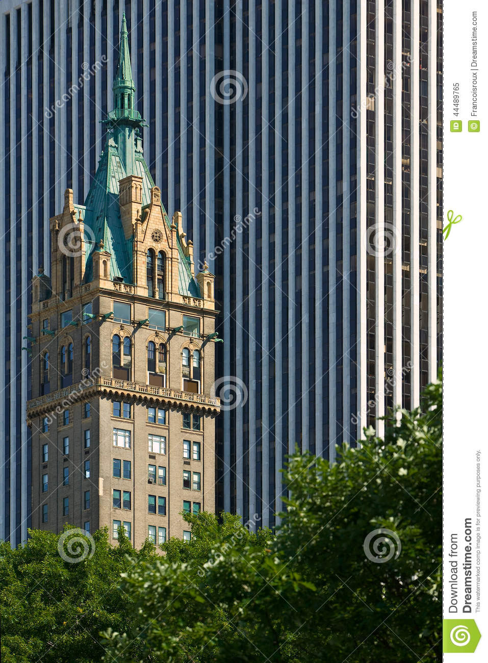 new york architecture contrasting styles stock image image of