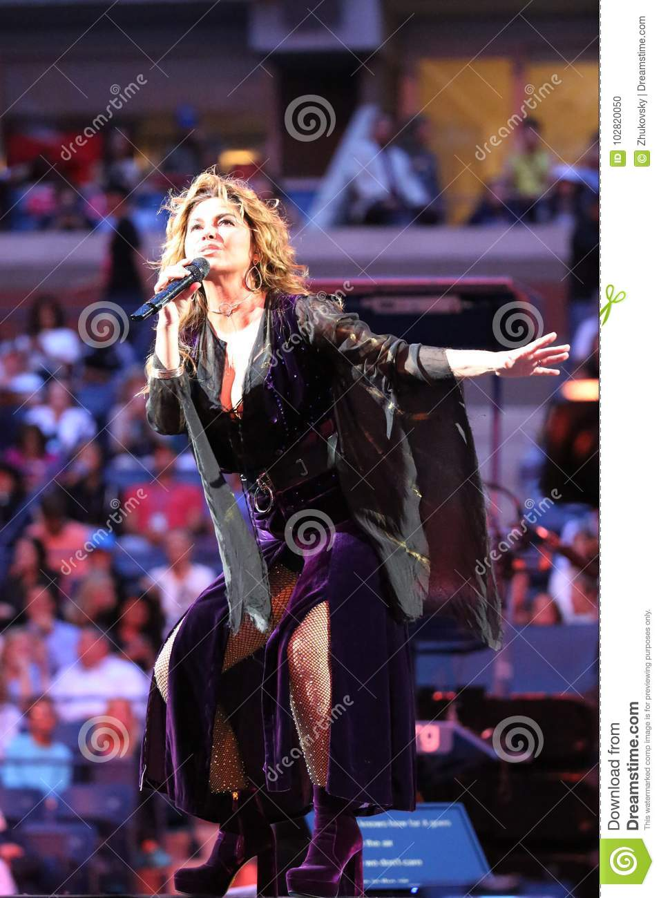 Canadian Country Singer And Songwriter Shania Twain Performs