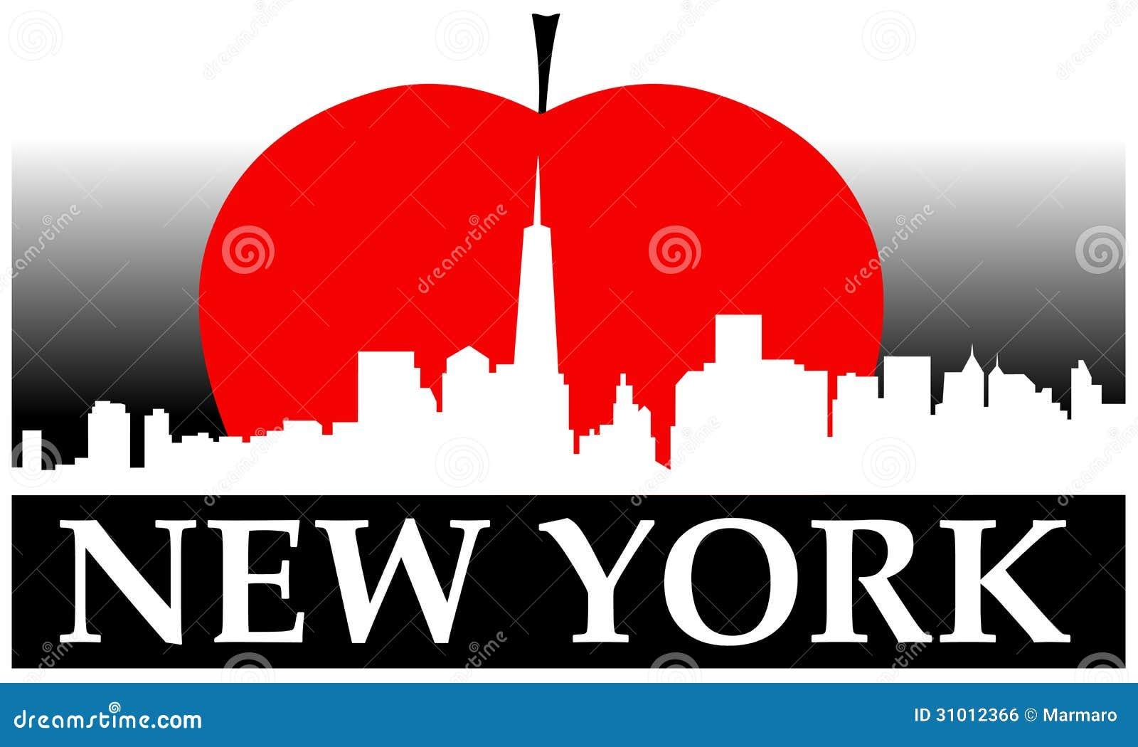 new york big apple stock vector illustration of east NYC Skyline at Night nyc skyline vector free