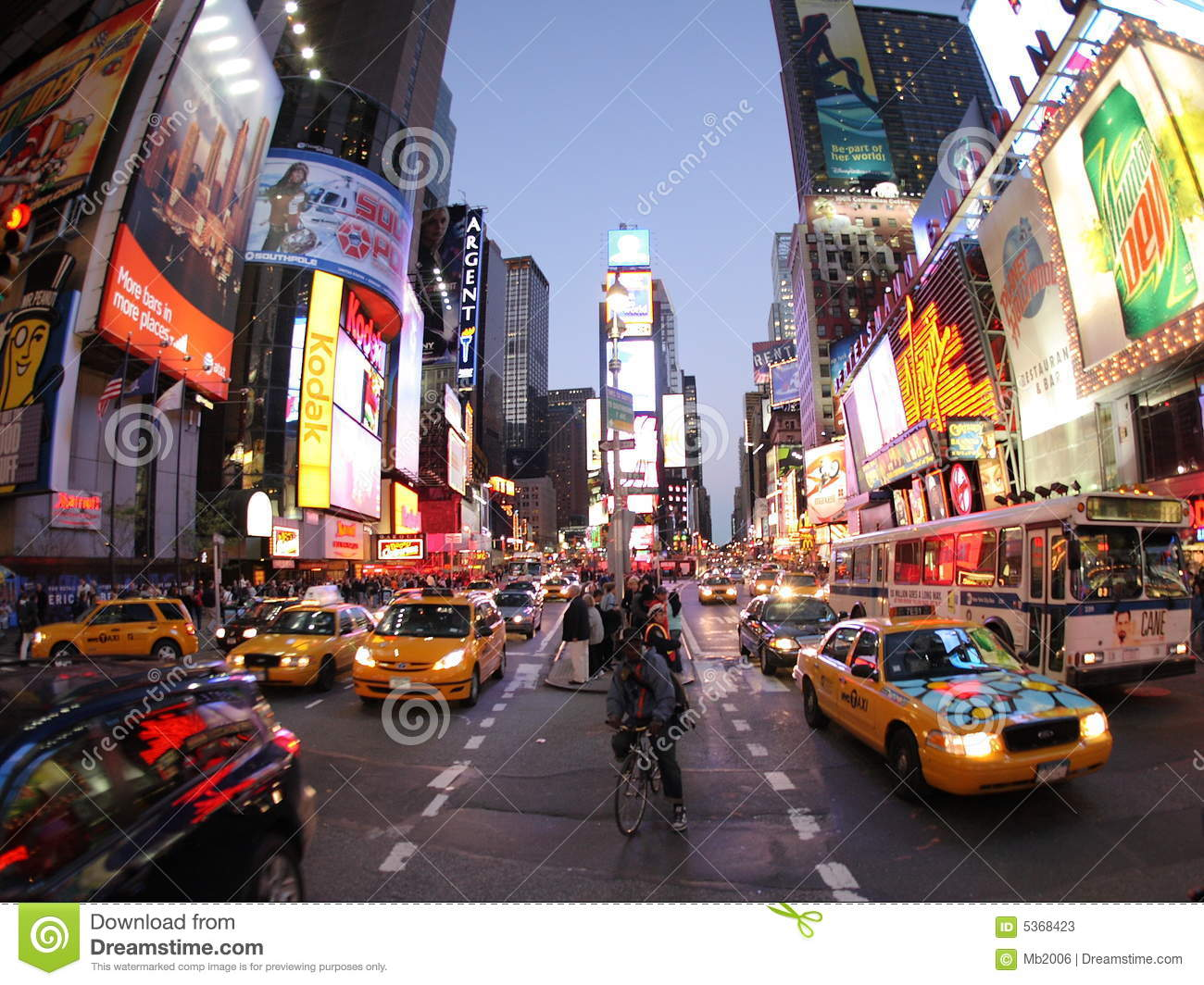 New York Broadway At Night Editorial Stock Photo Image Of