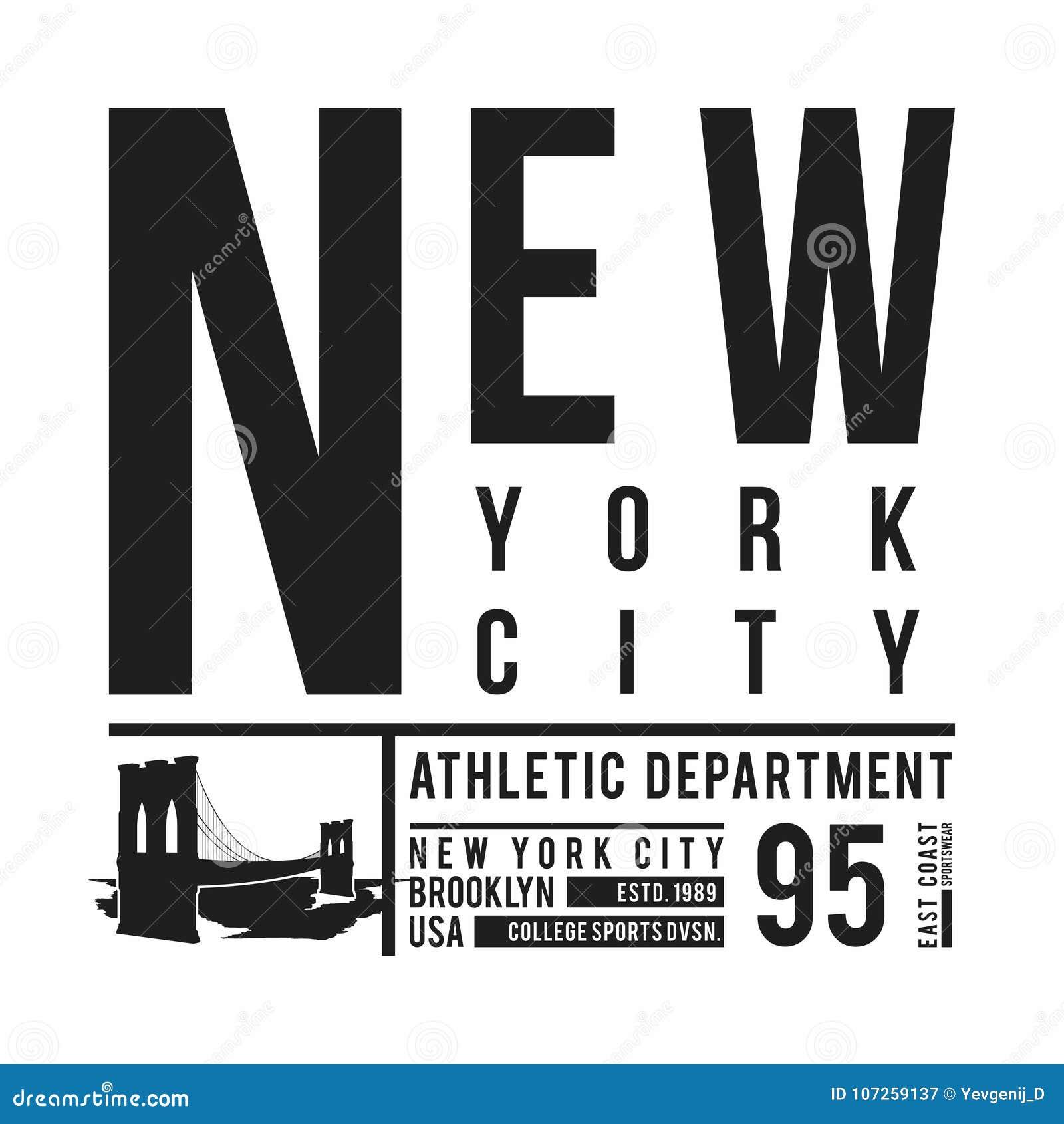 54dd3fd0 New York, Brooklyn Bridge typography for t-shirt print. Stylized Brooklyn  Bridge silhouette. Tee shirt graphic, t-shirt design. Vector