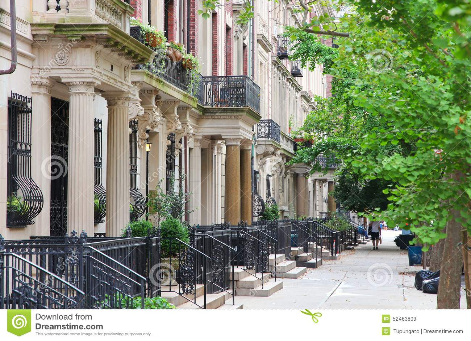 New York Brownstone Stock Photo Image 52463809