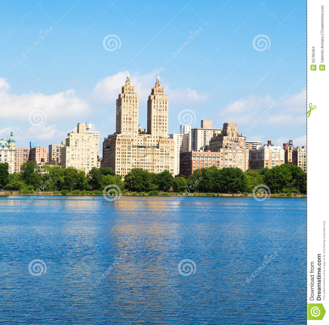 Central Park Apartments New York: New York Buildings From Central Park Stock Photo