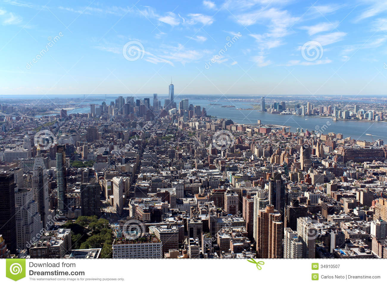 new york city aerial panoramic view royalty free stock photography
