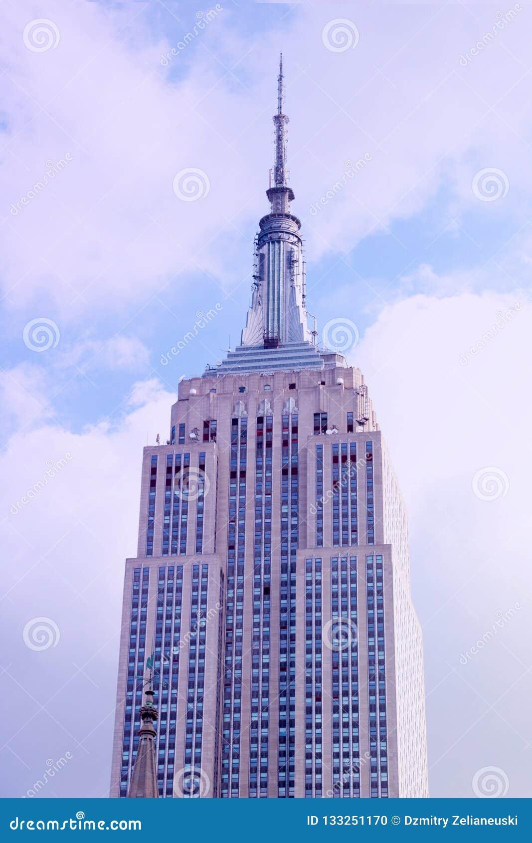 New York City - 25 août 2018 : Vue recherchant de l Empire State Building à New York City
