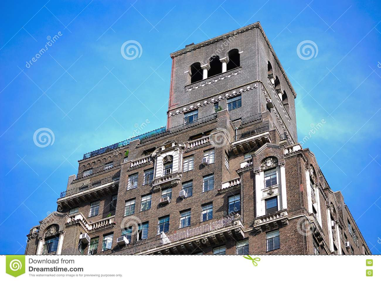 new york city apartment building royalty free stock