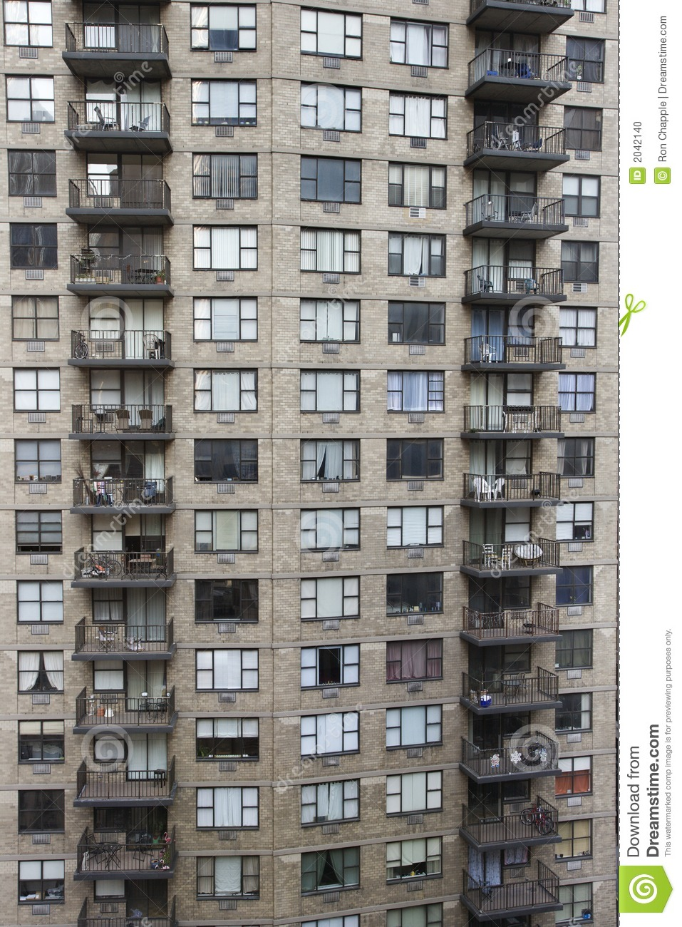 New York City Apartment Building Stock Photo Image