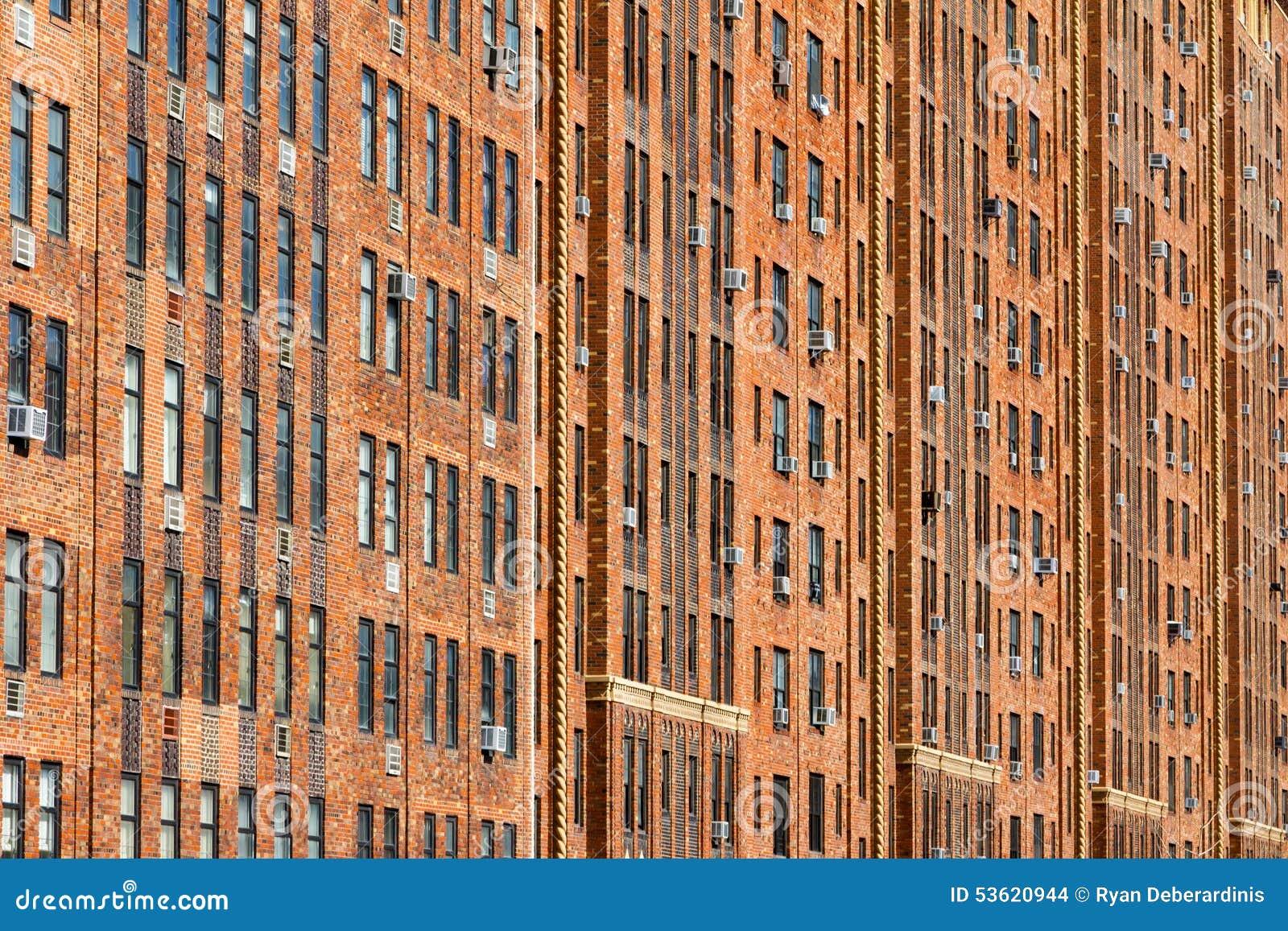 New York City Apartment Building Background Stock Photo Image