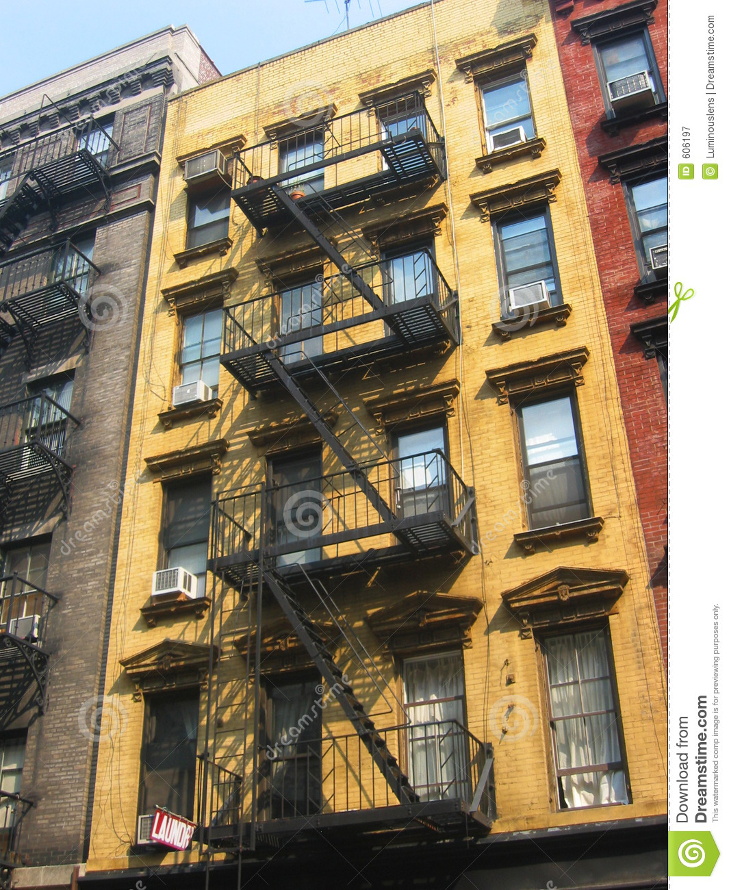 Apartement: New York City Apartment Buildings Royalty Free Stock