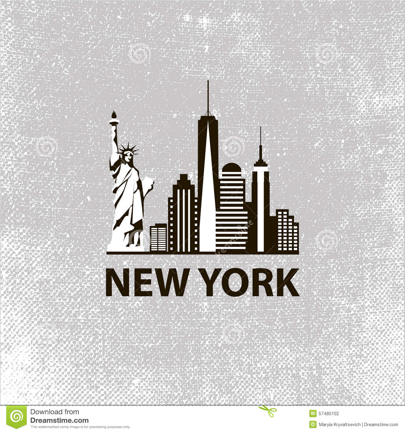 New York City Architecture Retro Black And White Stock Vector Illustration Of Apartments Skyline 57485102